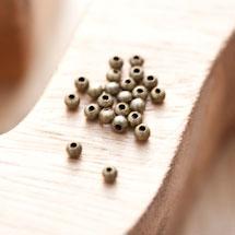 Perle en métal Ronde 3.2mm Creuse Bronze vieilli x 50