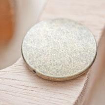 Perle en métal Ronde 32mm Plate Bronze vieilli x 1