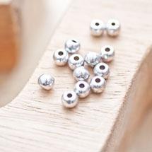 Perle en métal Ronde 5mm Argent vieilli x 24