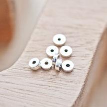 Perle en métal Ronde 5mm Rondelle Argent vieilli x 30