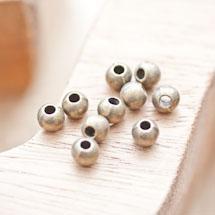 Perle en métal Ronde 6mm/2mm Bronze vieilli x 18