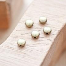 Perle en métal Ronde 6mm Plate Bronze vieilli x 20