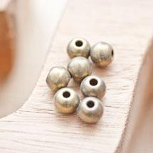 Perle en métal Ronde 7.5mm Bronze vieilli x 10