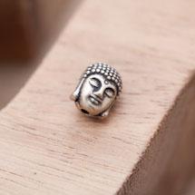 Perle en Métal Tête de Bouddha 11mm Bronze vieilli x 6
