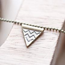 Perle en métal Triangle chevrons 14mm Bronze vieilli x 10