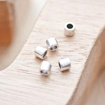 Perle en métal Tube 4.5x5mm Argent vieilli x 20