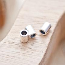 Perle en métal Tube 8x6mm Argent vieilli x 10