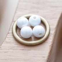 Perle en porcelaine Ronde 8mm Blanc x 16