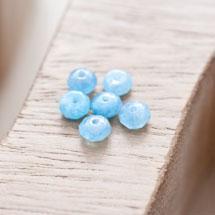 Perle en Quartz Boulier 6mm Bleu x 20