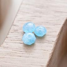 Perle en Quartz Boulier 8mm Bleu x 14