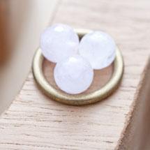 Perle en Quartz Ronde 10mm Facettes Rose x 8