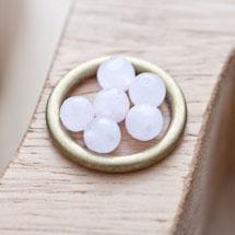 Perle en Quartz Ronde 6mm Facettes Rose x 20