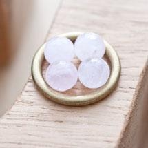 Perle en Quartz Ronde 8mm Facettes Rose x 14