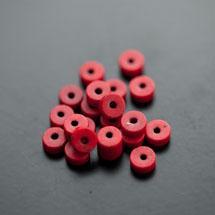Perle en Turquoise Synthétique Pastille 6x3mm Rouge x 38pcs
