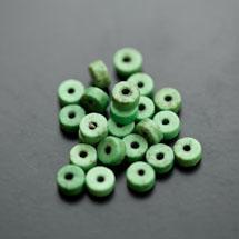 Perle en Turquoise Synthétique Pastille 6x3mm Vert x 38pcs