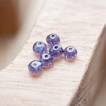 Perle en verre Boulier 6mm Indigo x 30