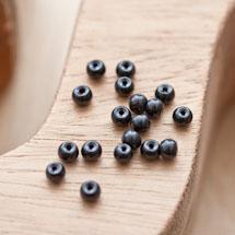 Perle en verre Ronde 4mm Noir x 40