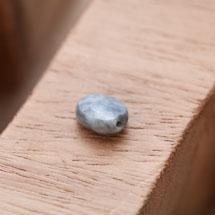 Perle Oeil de Tigre Ovale 8x10mm Facettes Gris x 2