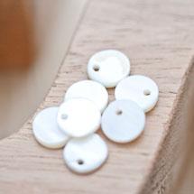 Sequin Nacre 10mm Blanc x 20