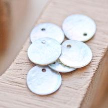 Sequin Nacre 13mm Blanc x 40