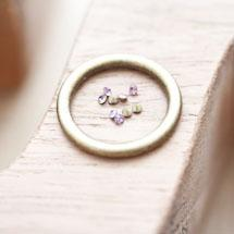 Strass en verre 2mm Cône Rose violet x 16