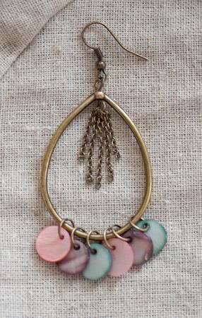 Création bijoux : les boucles d'oreilles été indien