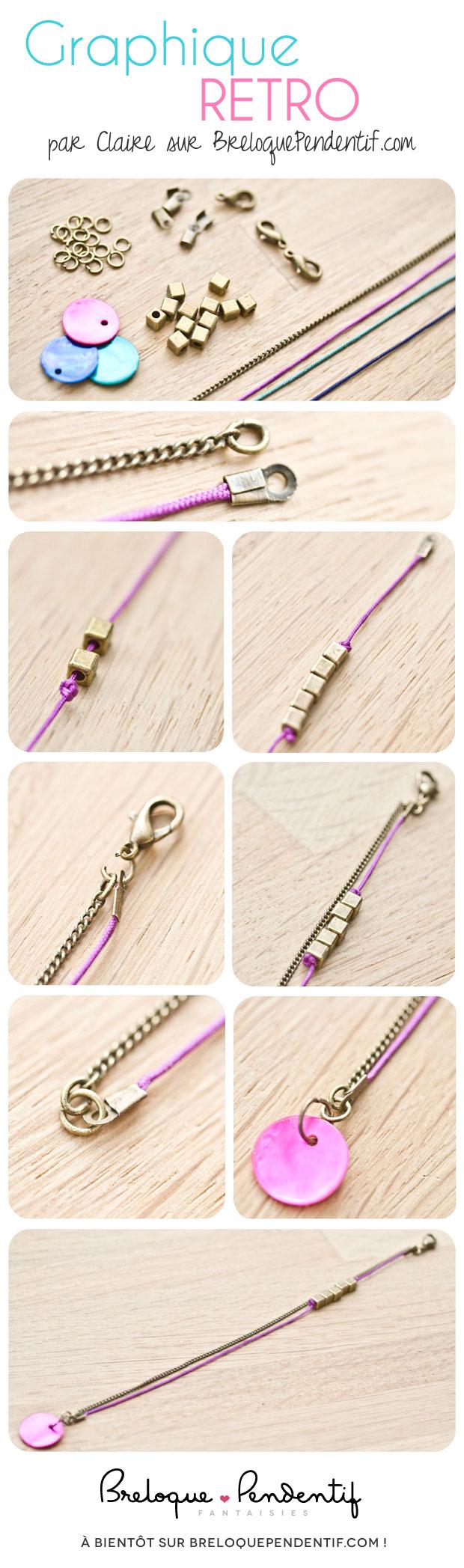Bracelet Graphique Retro par Claire