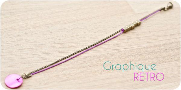 Tutoriel du Bracelet Graphique Retro
