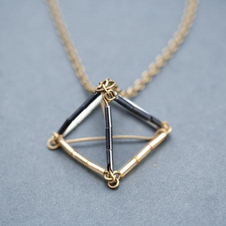 Geometric Beauties - Sautoir Pyramide