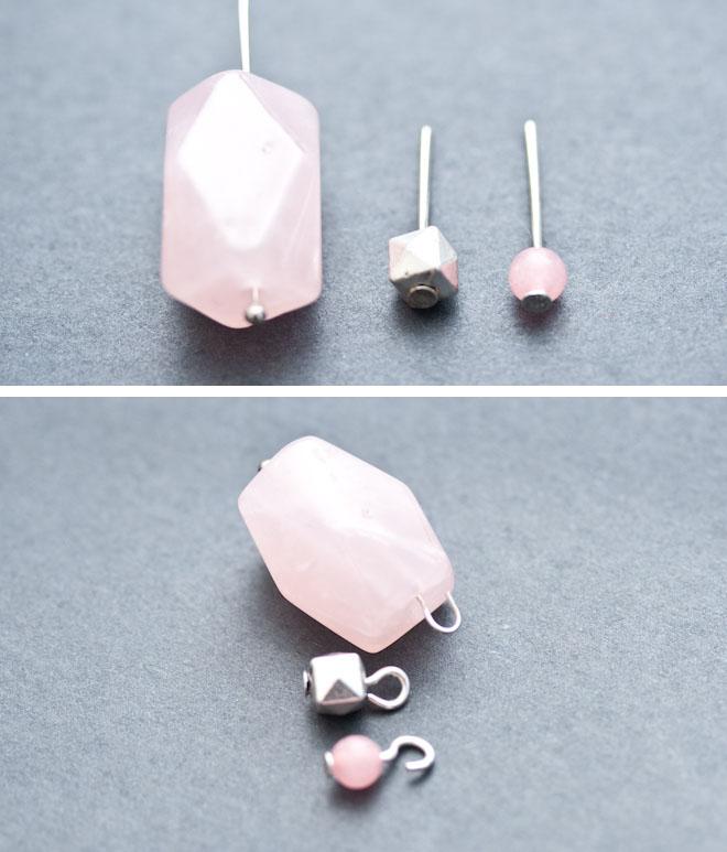 diy création bijoux sautoir capucine