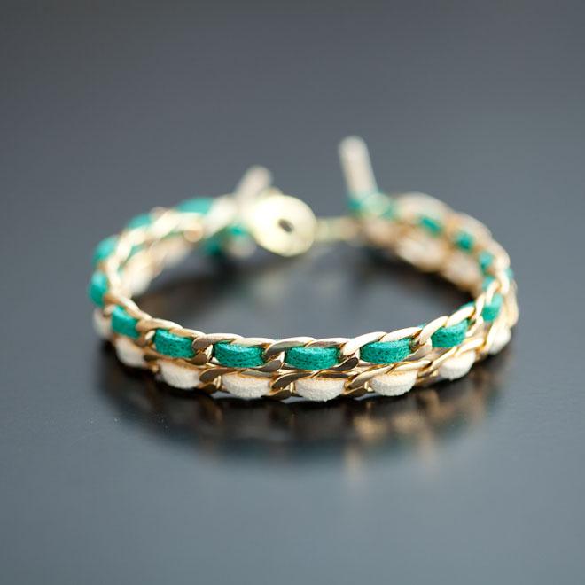 Bracelet Green Gold