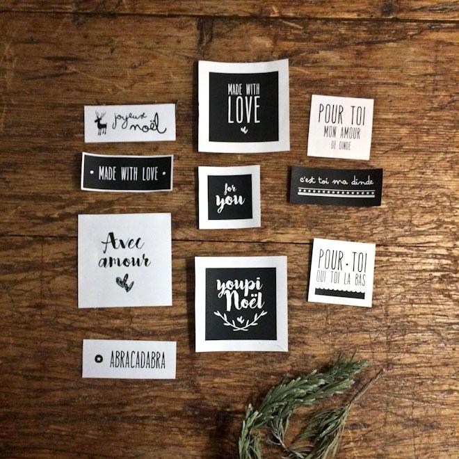10 Étiquettes de Noël pour vos beaux cadeaux