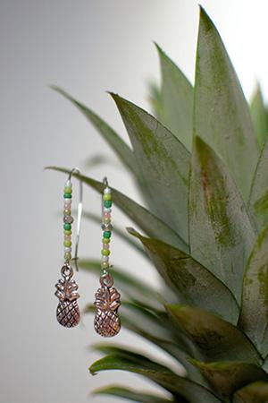 BO ananas et perles de rocaille