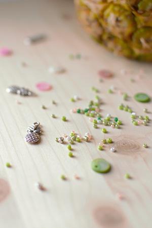 breloque ananas perles breloque et pendentif