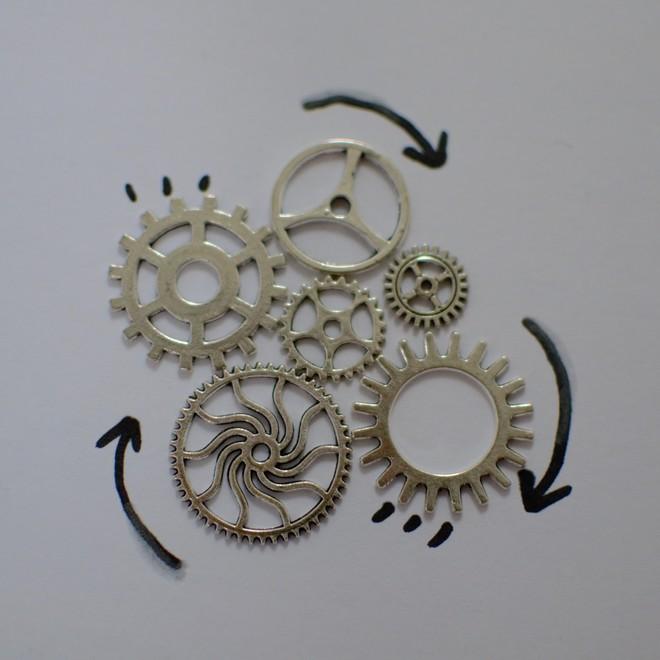 Tuto : bijoux rouages argentés