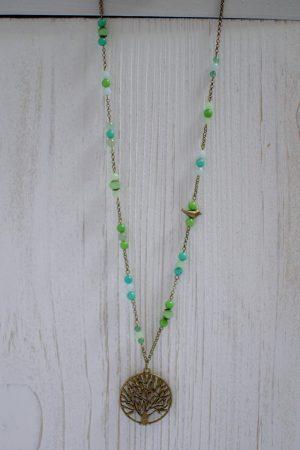 sautoir zen perles et pendentif