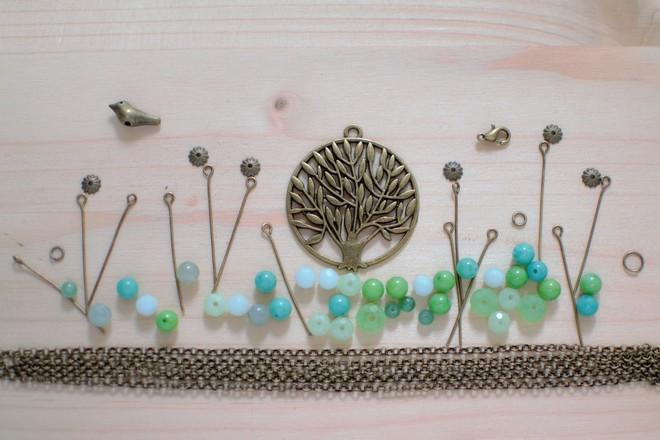 jardin zen en perles et breloques