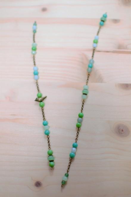 chaînes intercalées de perles obtenues