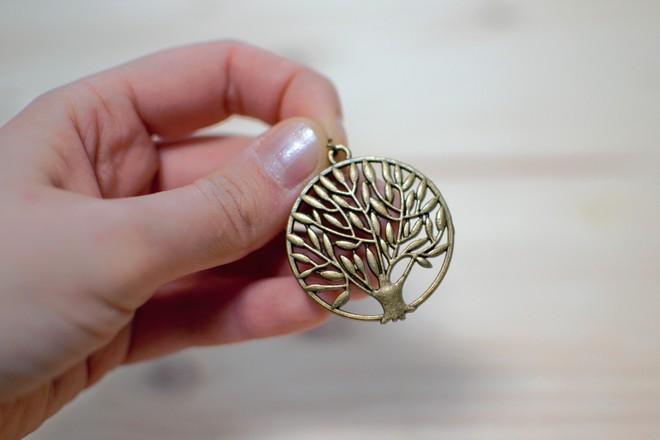 pendentif arbre de vie bronze vieilli