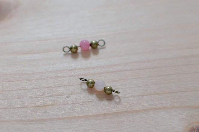 perles sur tiges à boucle