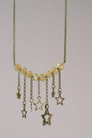 collier étoiles pendantes
